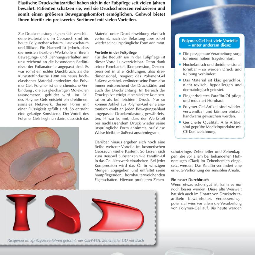 Aus einem Guss: GEHWOL Druckschutzartikel aus Polymer-Gel