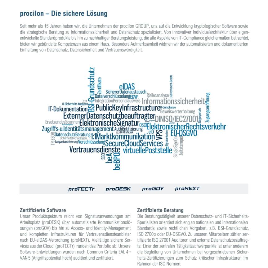 procilon Leistungsportfolio