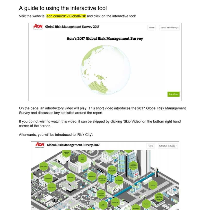 Guide to Using the Interactive Tool