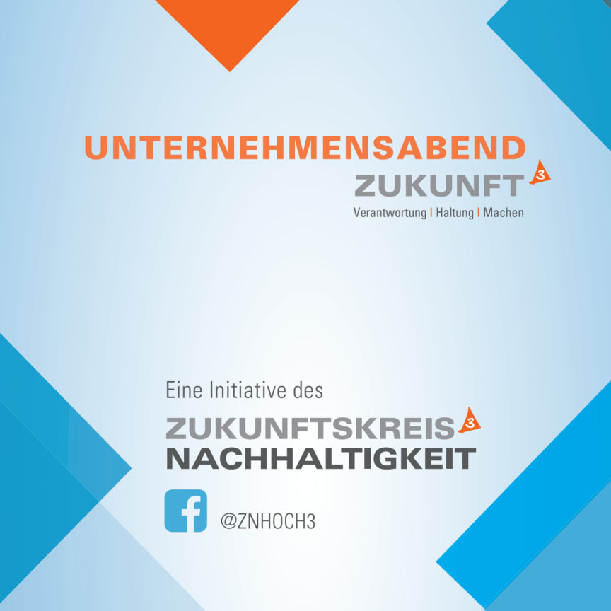 Zukunftskreis Nachhaltigkeit HOCH3, Unternehmensabend am 9.10.19, Booklet zur Veranstaltung