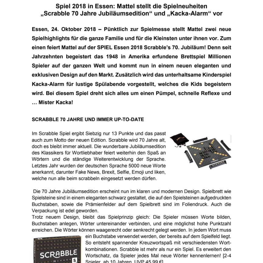 Pressemeldung Mattel Games_Scrabble 70 Jahre_Kacka-Alarm