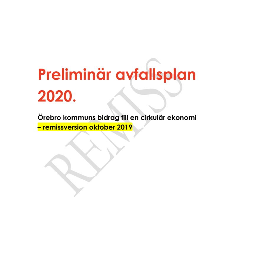 Avfallsplan remissversion 2020