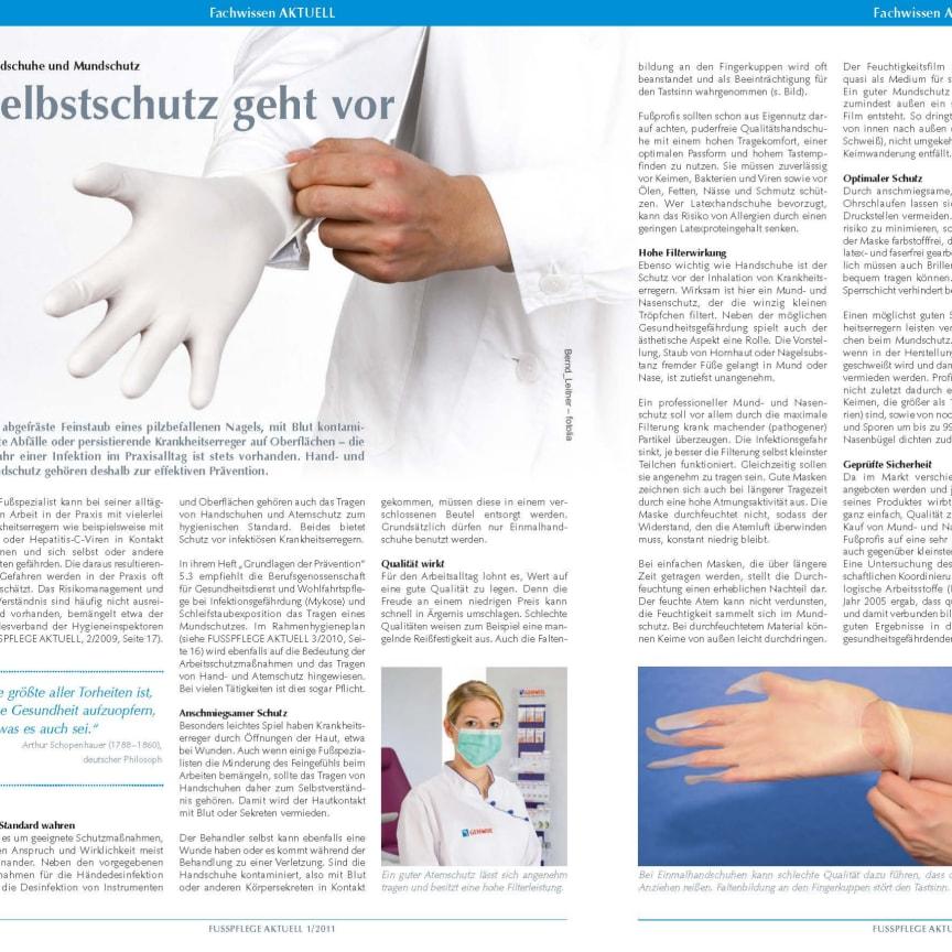Handschuhe und Mundschutz: Selbstschutz geht vor