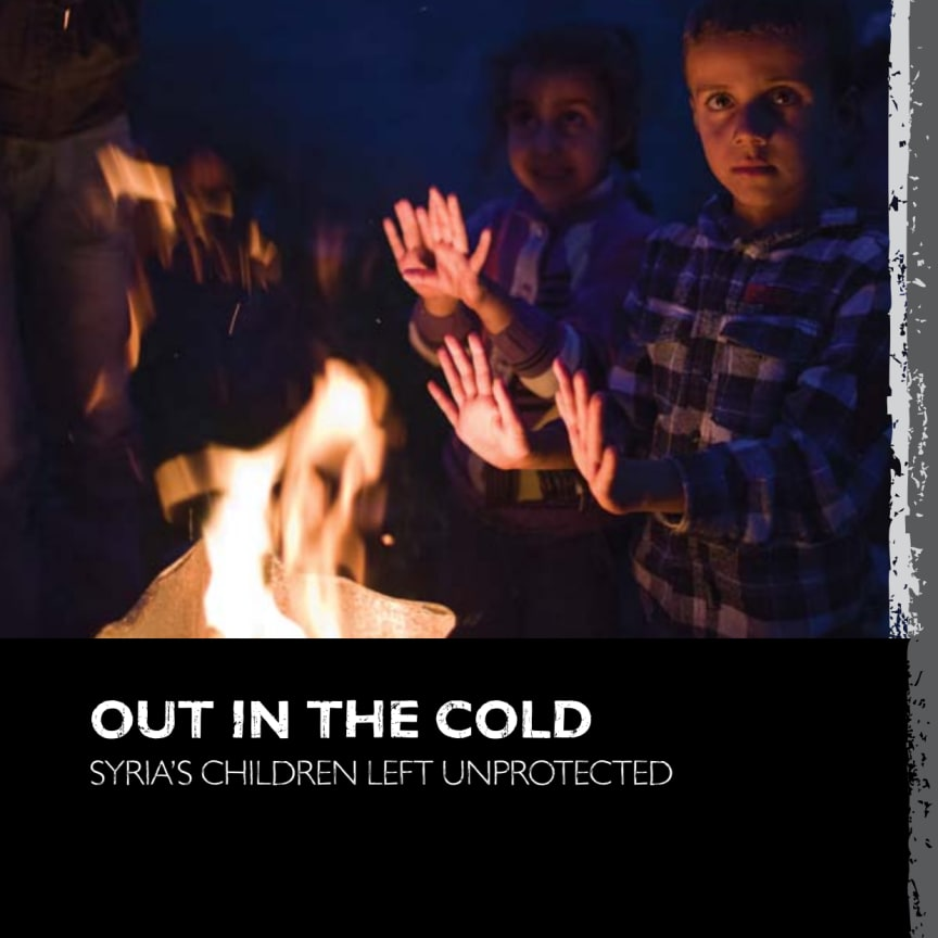 Out in the cold - Syria´s children left unprotected