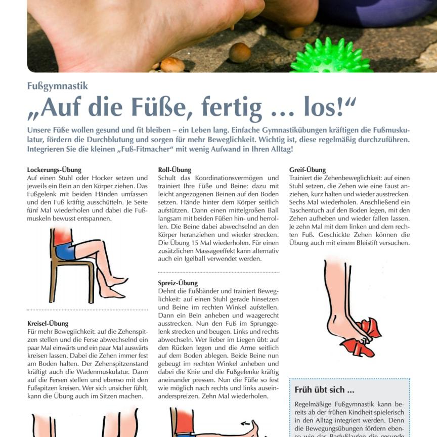 """Fußgymnastik: """"Auf die Füße, fertig … los!"""""""
