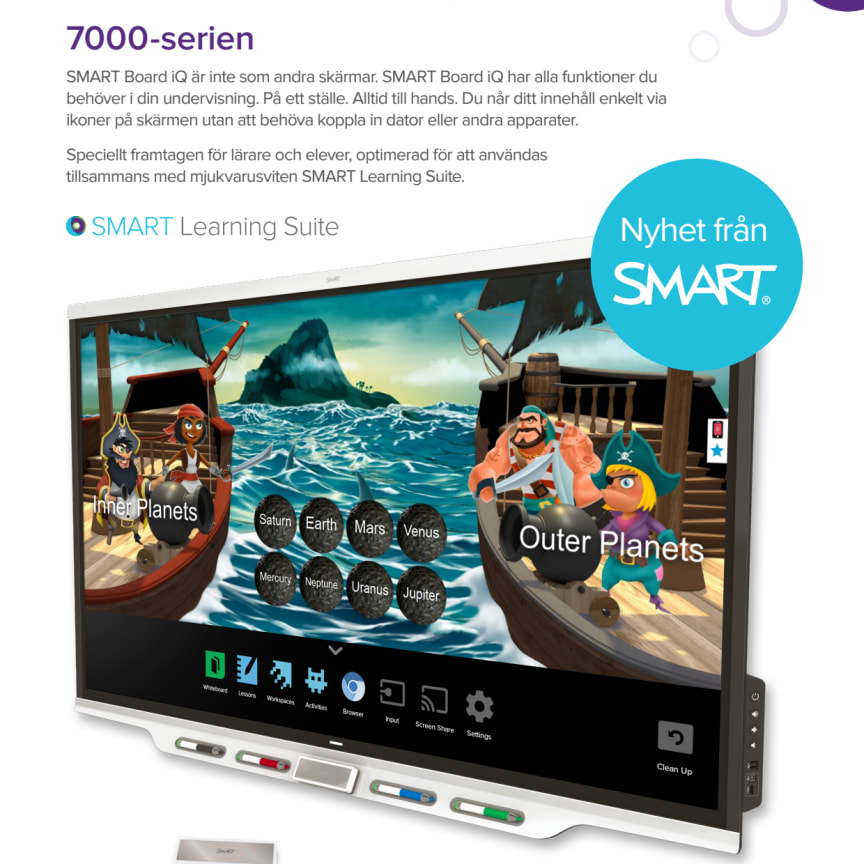 Produktblad SMART Board iQ 7000