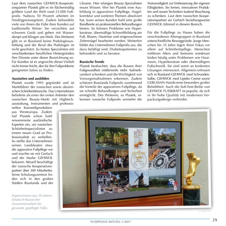 Gerlach in Russland: Raum für stetige Weiterentwicklung