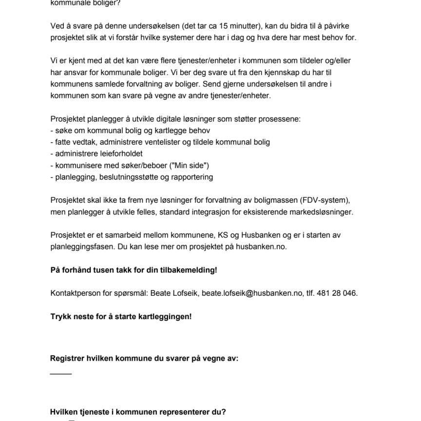 Kartlegging kommuner juni 2020