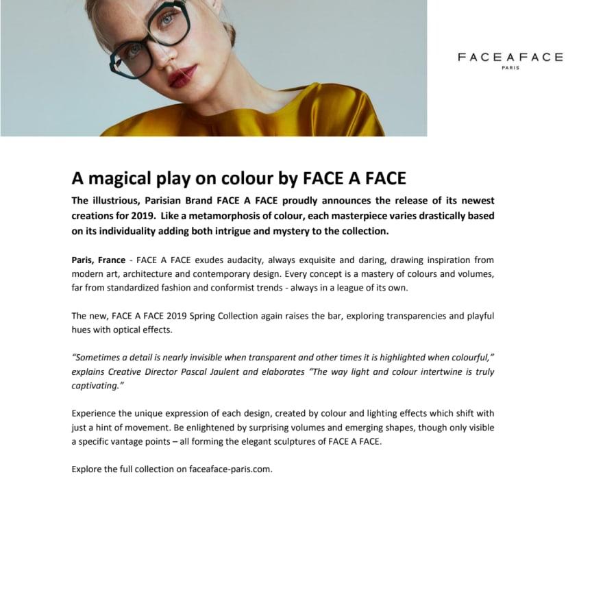 A magical play on colour by FACE A FACE