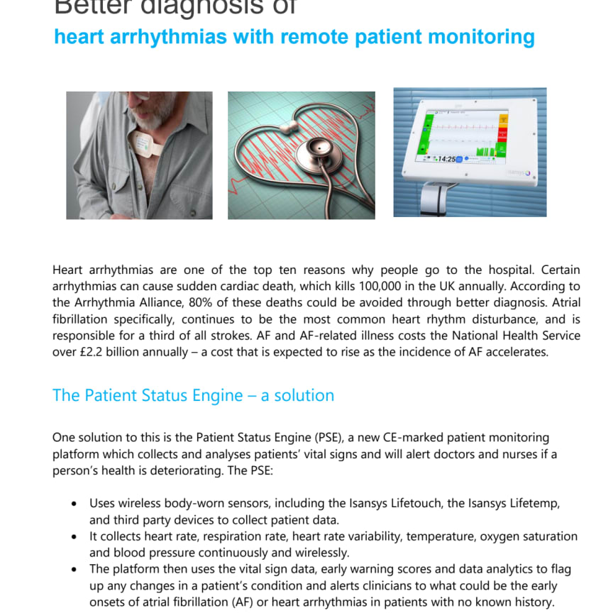 Better diagnosis of heart arrhythmias with remote patient monitoring