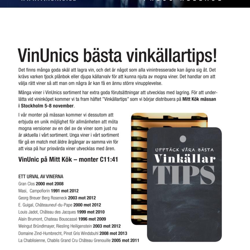 VinUnics bästa vinkällartips!