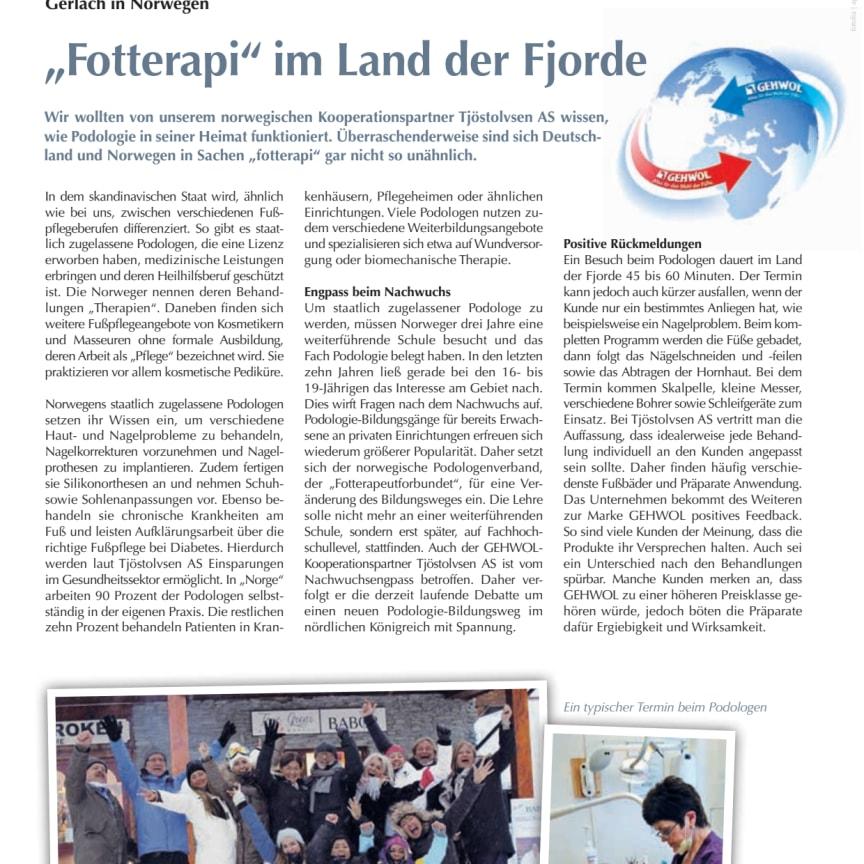 """Gerlach in Norwegen: """"Fotterapi"""" im Land der Fjorde"""