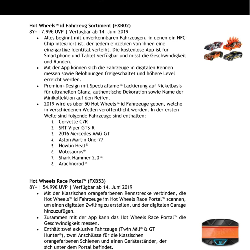 HOT WHEELS ID Factsheet