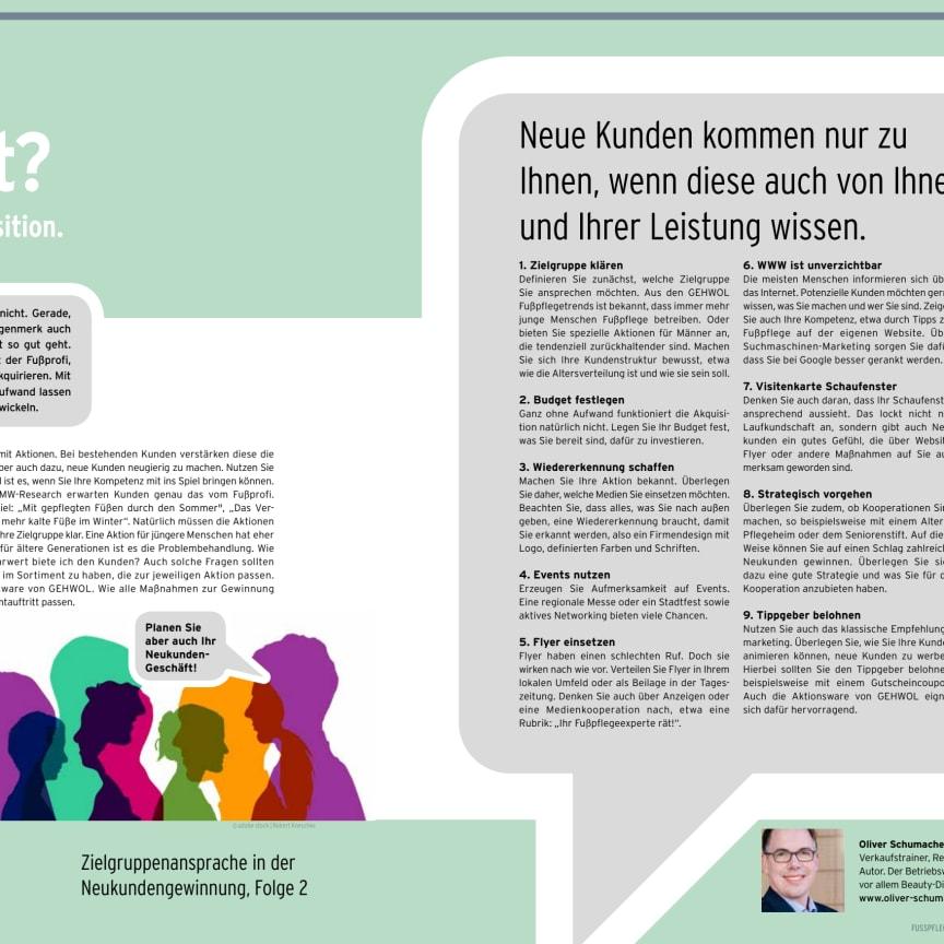 Zielgruppenansprache in der Neukundengewinnung, Folge 2: Kunden gesucht? Aktionen zur Akquisition