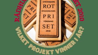 Fem byggnader nominerade till  Stockholms Byggmästareförenings ROT-pris 2011