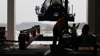 Is nära stoppa turbinlyft på Filbornaverket