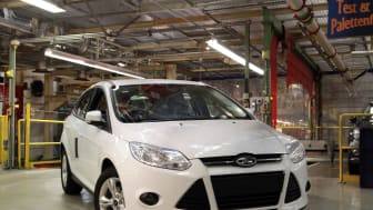 Ford aloitti 1.0-litraisella EcoBoost-moottorilla varustetun Focuksen tuotannon