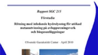 C SVU-rapport: Rötning med inledande biologiskt hydrolyssteg för utökad metanutvinning på avloppsreningsverk och biogasanläggningar (avlopp)