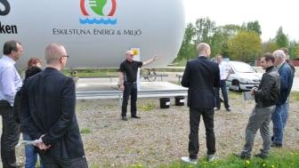 Eskilstuna Energi och Miljö, Lidl och Volvo och sluter gemensamt kretsloppet via en lastbil