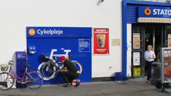 Statoil indretter cykelplejepladser på stationer i København
