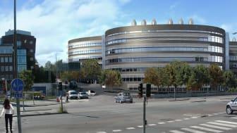 Skiss ny byggnad Karolinska Institutet Science Park, Campus Solna
