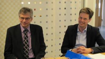 Anders Nyberg, Näringsdepartementet, besöker Peak Innovation i Östersund