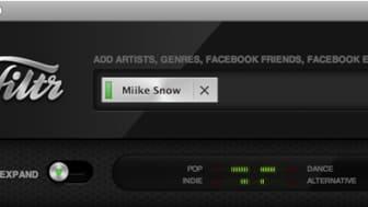 Sony Music lanserar Spotify-appen Filtr – spellistegeneratorn med en social twist