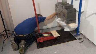 Säker Vatten presenterar typvägg för våtrum -  fuktsäker konstruktion för rationellt byggande
