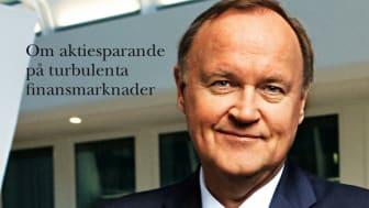 Presskonferens med Urban Bäckström, ny bok om aktiesparande