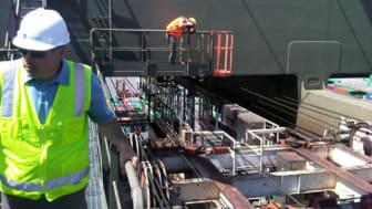 Filming a Cavotec spreader reel at Maher Terminals in Newark, NJ #Cavotecfilm