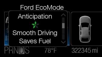 Ford bemöter stigande bränslepriser med smart teknik som hjälper bilägare att hålla ner kostnaderna