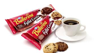 Ballerina fylld cookie med kaffe