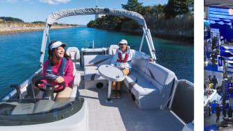 より充実するヤマハマリンクラブ「Sea-Style」(イメージ・左)と昨年のボートショー風景
