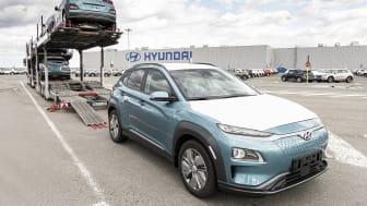 Hyundai har startet produksjonen av Kona Electric i Tsjekkia. Foto: Hyundai