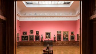 This is from The Langaard room in The National Gallery and at the top you see the work of  Dag Erik Elgin, Balance of Painters, 2011-2012.
