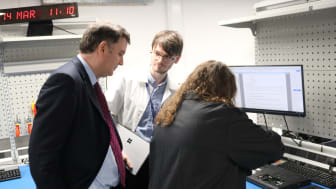 Mel Stride is shown the digital forensics capabilities of HMRC staff