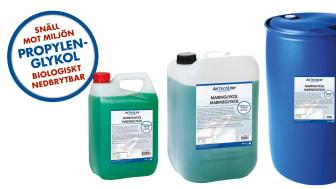 AdTechLine® Maringlykol kommer finnas i tre olika förpackningar, 4 l, 25 l och 210 l.