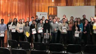 Abschlusspräsentation bei der Wohnungsbaugesellschaft Gewobag Berlin.