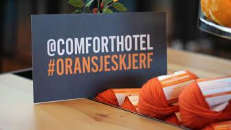 Comfort Hotel gjentok fjorårets strikke-suksess for et varmere samfunn