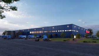 Matsmarts nya lager ska byggas i Örebro. Hela lagret, som blir robotiserat och automatiserat, ska drivas av solpaneler på taket.