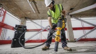 Nya DCH773 har en maximal borrkapacitet på 52 mm i massiv betong och är världens mest slagkraftiga borrhammare.