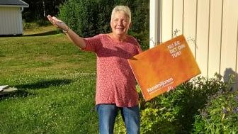 Anita Nilsson skänker sin del av Kundmiljonen till Rödupportens intresseförening