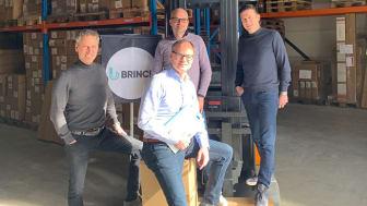 Vlnr: Anco Vogelaar, Tom Klein (zittend), Jeroen Huisken, Dave Wiegerink