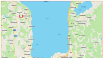 Kartbild Veidekkes mark i Bankeryd, Jönköping.