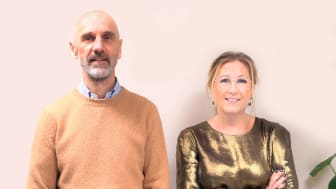 Pontus Lesse, newly appointed CEO of Swedeish company Elodie Detail together with Founder and former CEO Linda Sätterström