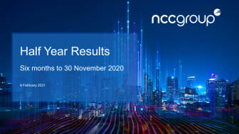 Half Year Results for six months to 30 November 2020