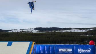 Freeski- och snowboardlandslaget avslutar säsongen i Kläppen. Foto: Daniel Bernstål