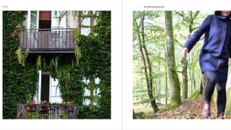 Ett av uppslagen i boken #mitthässleholm där vi möter bilder och berättelser från olika platser i Hässleholms kommun. Foto: Johan Funke (vänstra bilden) och Emma Ragnarsson (högra bilden).