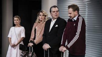 Lisa Larsson, Victoria Wikberg, Bill Hugg och Nils Dernevik. Foto. Emma-Lisa Pauly