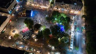 Malmöfestivalen, Gustav Adolfs torg, matområdet och Gustavscenen.